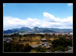view from kumamoto castle 熊本城overlooking the city