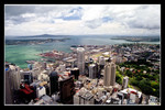 overlooking the view of auckland from the sky tower