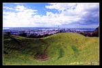 mount eden where it's a 200m high volcanic structure