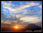 lantau peak during sunset