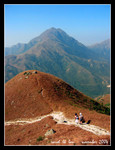 on our way back to tung chung from sunset peak, w/lantau peak in the background