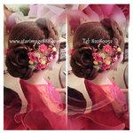 bride hair hong kong,褂頭,新娘髮型設計,中式新娘頭飾