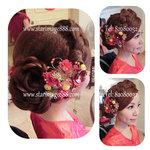 bridal hair hk,新娘髮型,裙褂髮型,裙褂頭飾,香港新娘頭飾