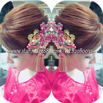 bridal make up,wedding make up,bigday make up,hong kong hair,bridal hair,hong kong hair,新娘頭飾課程 {DIY} 卦頭飾