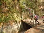 穿鐵絲網開口上護土牆鐵梯至頂接山路往石龍飛瀑頂大休DSCN5553