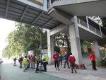 在香港專業教育學院旁天橋下集合 DSC00002a