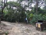 原來垃圾桶前林中有條山路 DSC02277