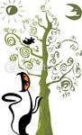dep_1941198-Cat-and-a-bird-in-a-tree