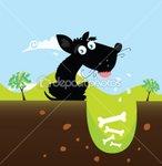 dep_3301657-Black-dog-with-bones-VECTOR