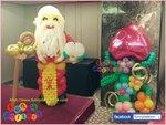 氣球壽星公及氣球壽桃擺設