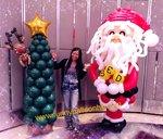 巨型聖誕老人氣球造型