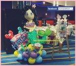 美人魚氣球擺設