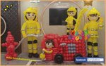 消防員氣球佈置