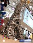 巴黎鐵塔(5尺高),今次客人要求,唔好太大,要做迷你版,所以放棄用支架,用織方法同新氣球色去完成,出黎效果得到客人同賓客喜歡,我地都好榮幸.謝謝支持