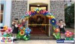 畢業氣球公仔拱門佈置