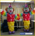 小丑氣球柱 6尺高