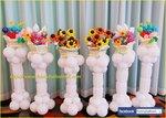 高貴氣球花柱擺設