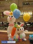 小朋友PARTY 氣球柱 4呎高大兔仔