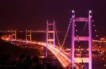 The Tsing Ma Bridge & Kap Shui Mun Bridge at sunset