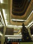充滿聖誕氣氛的酒店裝飾