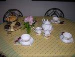 下午茶時間呈現的茶席
