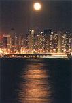 """""""Moon rise 月出"""",Tsim Sha Tsui East 尖東, 24/8/2002"""