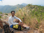 It took 3 hours to climb up Luk Wu Tung 鹿湖峒. Mount Newland 觀音峒 and Tiu Tang Lung 吊燈籠 at the back.