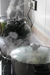Steam in the kitchen 炊煙, my home, 18/1/2008.