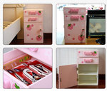 B1016-木製草莓床頭收納櫃.門市售$950批發價$380 .尺寸:寬27.3×深26.3×高47.5
