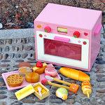 客人回相讚好 - 多謝媽媽們支持  . B1030-木製草莓粉紅色麵包烤箱套裝.門市售$590批發價$250.尺寸:寬20x高30 x深度26