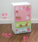 B1114-木製草莓彩色冰箱套裝.門市售$990批發價$420.尺寸:寬27×深20.5×高47