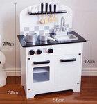 M121 - 木製北歐黑白色雙門廚房<br>.<br>門市售$950<br>批發價$420 <br><br>(本月訂購 Free 厨具)<br>.<br>