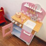 M122 - 木製北歐粉紅色雙門廚房<br>.<br>門市售$950 <br> 批發價$420  <br><br>(本月訂購 Free 厨具)<br>.<br>