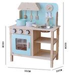 M142 - 木製北歐淡藍色廚房<br>.<br>門市售$950<br>批發價$420 <br><br>(本月訂購 Free 厨具)<br><br>厨房呎吋: 55*30*68cm,台面高度46cm<br>.<br>