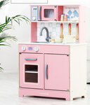 M144 - 木製北歐粉紅色厨房<br>.<br>門市售$1200<br>批發價$520 <br><br>(本月訂購 Free 厨具)<br><br>厨房呎吋: 60*30*85cm,台面高度50cm<br>.<br>