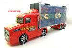 E532-貨櫃車+12架合金車中組套裝 (紅色,藍色) . $98.