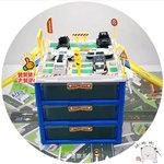E539 - 玩具車收納盒停車場 <br>.<br> $100 (一套) <br>.<br> (警察收納盒 , 消防收納盒,工程收納盒) <br>.<br>