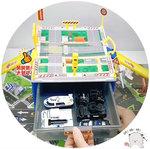 E539-玩具車收納盒停車場 (警察收納盒 , 消防收納盒,工程收納盒) . $100 (一套) .