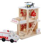 F8059 - 木製醫院拆裝房子套裝<br>.<br>門市售$450<br>批發價$180<br>.<br>