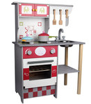 A119 - 木製歐式灰色廚房<br>.<br>門市售$850<br>批發價$360<br><br>(本月訂購 Free 厨具)<br><br>