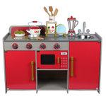 A123 - 木製歐式紅色廚房<br>.<br>門市售$980<br>批發價$420<br><br>(本月訂購 Free 厨具)<br><br>