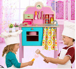 A77 - 木製粉色高腳廚房<br>.<br>門市售$650<br>批發價$290<br><br>(本月訂購 Free 厨具)<br><br>