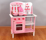 A136 - 木製歐式粉紅色廚房<br>.<br>加強版 - 有聲音,有燈光<br>.<br>門市售$920<br>批發價$460<br><br>(本月訂購 Free 厨具)<br><br>