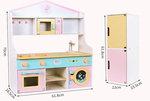 A158 - 木製日式三格廚房+收纳櫃/升高櫃<br><br> (一櫃兩用)<br>.<br>門市售$1250<br>批發價$480<br><br>(本月訂購 Free 厨具)<br><br>