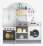 A165 - 木製洗衣機大雪櫃厨房<br>.<br>門市售$1280<br>批發價$650<br><br>(本月訂購 Free 厨具)<br><br>