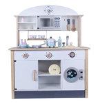 A166 - 木製經典微波爐洗衣機多格厨房<br>.<br>門市售$1280<br>批發價$650<br><br>(本月訂購 Free 厨具)<br><br>