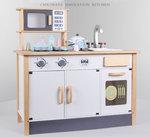 A167 - 木製經典微波爐三門厨房<br>.<br>門市售$1280<br>批發價$650<br><br>(本月訂購 Free 厨具)<br><br>