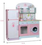 A168 - 木製洗衣機大雪櫃厨房<br>.<br>門市售$1300<br>批發價$590<br><br>(本月訂購 Free 厨具)<br><br>