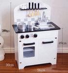 A205 - 木製北歐黑白色雙門廚房<br>.<br>門市售$950 <br> 批發價$420 <br><br>(本月訂購 Free 厨具)<br>.<br>