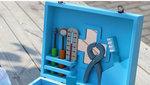 A17 - 木製藍色牙醫藥箱套裝<br>.<br>門市售$450<br>批發價$170<br>.<br>